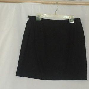 Ann Taylor Black PENCIL SKIRT Wool Blend L 12